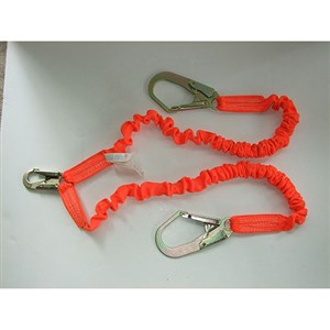 Guardian 01298 Internal Stretch Double Leg Shock Absorbing Lanyard With Rebar Hooks