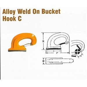 Pewag BH-C18 Alloy Weld On Bucket Hook C Style