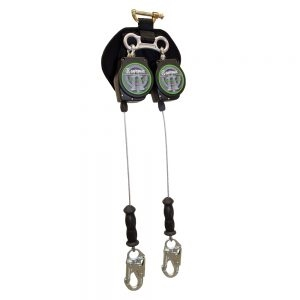 SafeWaze SW-8008-11LE-DL 11 foot twin leg leading edge self retracting galvanized cable lifeline