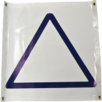 Large Vinyl Blue Triangle