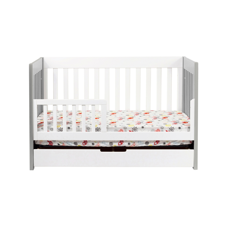 babyletto mercer in crib in greywhite finish  mgw -