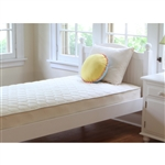 Naturepedic Full/Double Organic Cotton Quilted Kids Mattress, Quilted - MF50