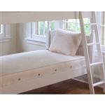 Naturepedic Twin Organic Cotton Ultra 2 in 1 Kids Mattress, Quilted/Natural MT45