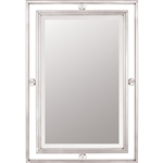 Quoizel Downtown Mirror in Brushed Nickel - DW43222BN
