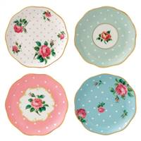 Royal Albert New Country Roses Assorted Coasters, Set of 4 - INTEGW26730