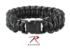 ROTHCO - PARACORD BRACLET - BLACK W/ REFLECTIVE TRACERS
