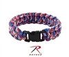 ROTHCO - PARACORD BRACLET - RED/WHITE/BLUE