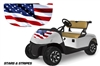 EZ GO FREEDOM RXV GOLF CART HOOD GRAPHICS 2015+