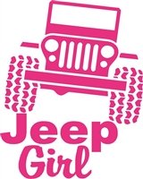 JEEP GIRL JEEP DECAL
