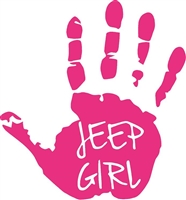 JEEP GIRL HAND DECAL
