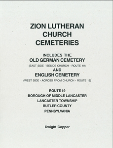 Zion Lutheran Cemetery, Lancaster Twp., Butler Co., PA - Copper