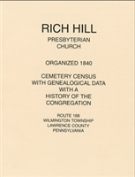 Rich Hill Presby. Church Cemetery Census, Willmington Twp., Lawrence Co., PA - Copper