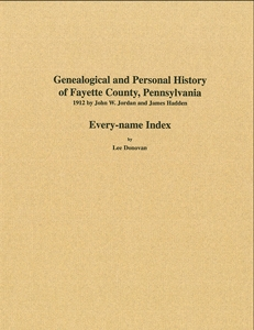 Every-name Index to 1912 History of Fayette Co., PA – Donovan