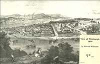 Bird's Eye View of Pittsburgh in 1859 – Willmann