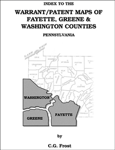 Index to the Warrant/Patent Maps of Fayette, Greene & Washington Counties