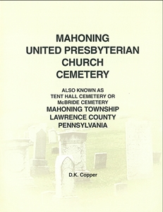 Mahoning U.P. Church Cemetery, Mahoning Twp., Lawrence Co., PA – Copper