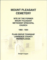 Mt. Pleasant Cemetery, Plain Grove Twp., Lawrence Co., PA – Copper