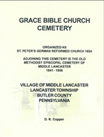 Grace Bible Church Cemetery, Village of Middle Lancaster, Lancaster Twp., Butler Co., PA – Copper