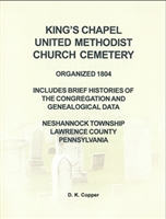 King's Chapel U. M. Church Cemetery, Neshannock Twp., Lawrence Co., PA – Copper