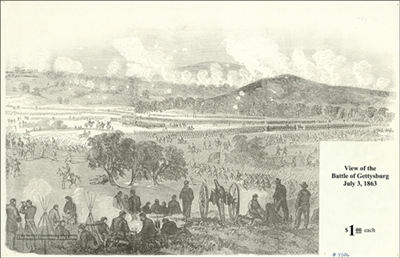 Sketch of Battle of Gettysburg, July 3, 1863 – Forbes