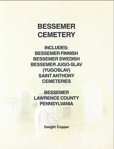 Bessemer Cemetery, Bessemer, Lawrence Co., PA – Copper