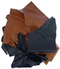 Large Goat & Calf Leather Pieces and Cuts - 1 Lb., Various Colors- 1 Lb., Various Colors