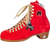 Moxi Boots Poppy Red Suede Boots