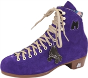Moxi Purple Suede Roller Skate Boots