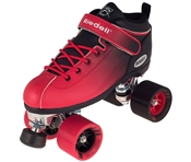 Riedell Dart Ombre Red Black Fade