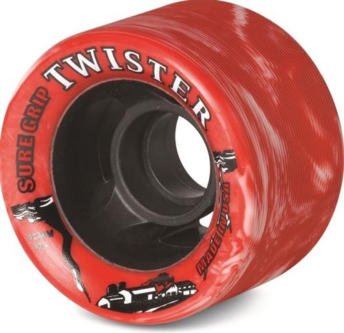 Sure Grip Twister Roller Skate Wheels 62mm X 40mm 96A Full Set of 8 wheels