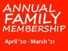 Membership - Annual Family, April 2020 - March 2021