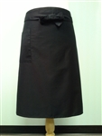 Long apron, Black, One Pocket