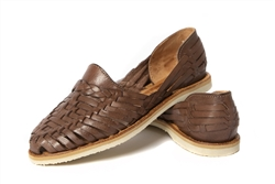Women's Closed Toe Colonial Huaraches Sandals - Dark Brown