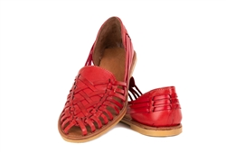 Women's Closed Toe Colonial Huaraches Sandals - Red