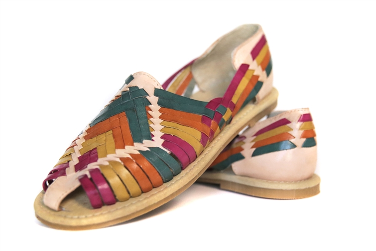 15a2f33b6f78 Shop for Mexican Huarache Sandals Multicolor