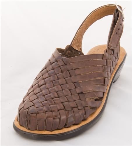 CLEARANCE Women's Closed Toe Ciruela Huaraches Sandals - Brown