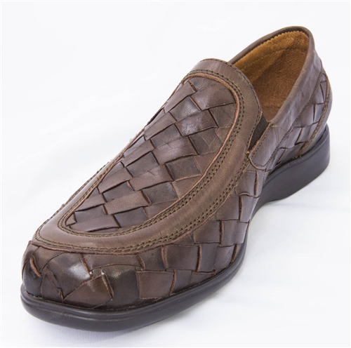 5212851c95f2 Premium Playero Closed Toe Huarache Sandals - Brown
