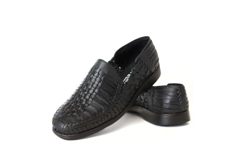 88eb94f1e342a Premium El Presidente Closed Toe Huarache Sandals - Black