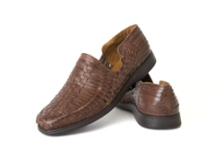 El Presidente Closed Toe Huaraches - Brown