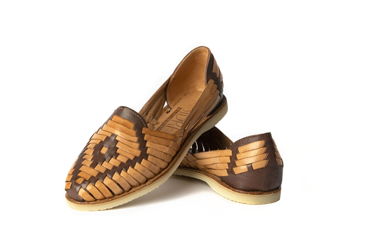 Women\u0027s Closed Toe Huarache Sandals , Brown/Natural
