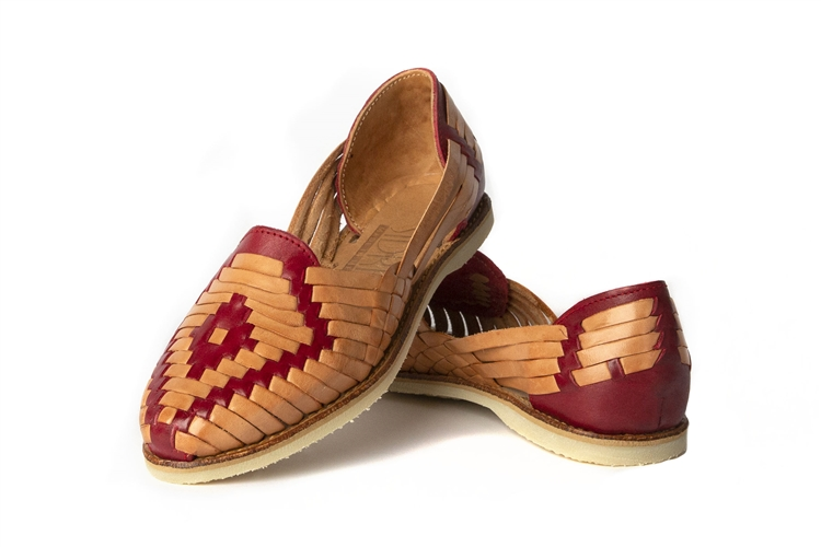 Women\u0027s Closed Toe Huarache Sandals , Tan/Red