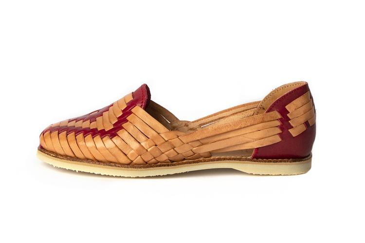 20211ce0f151 Mexican Sandals Closed Toe Huarache Flats