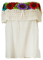 Shop Embroidered Mexican Off the Shoulder Tops