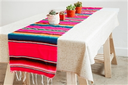 Mexican Classic Serape Table Runner - Hot Pink