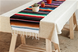 Mexican Classic Serape Table Runner - Multi Black