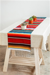 Shop for Mexican Classic Serape Table Runner - Multi Burgundy