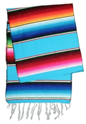 Shop for Mexican Classic Serape Table Runner - Multi Light Blue