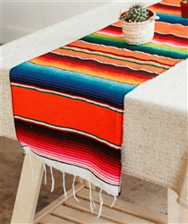 Mexican Classic Serape Table Runner - Multi Orange