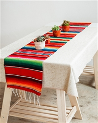 Mexican Classic Serape Table Runner - Multi Red