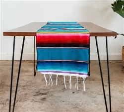 Mexican Classic Serape Table Runner Multi Pattern